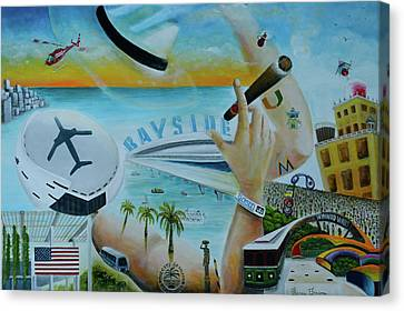 Hats Off To Miami Canvas Print by Blima Efraim