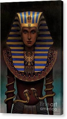 Hatshepsut Canvas Print by Jane Whiting Chrzanoska