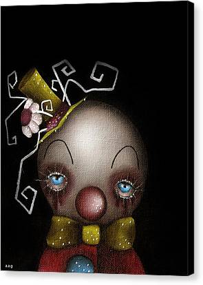Hatter Clown Canvas Print by  Abril Andrade Griffith