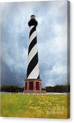Hatteras Lighthouse Outer Banks On A Stormy Cloudy Day Ap Canvas Print