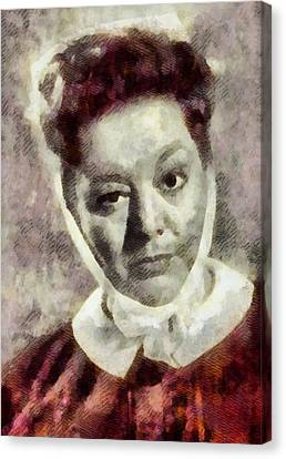 Hattie Jacques, Carry On Actress Canvas Print