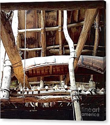 Haudenosaunee Longhouse  Canvas Print