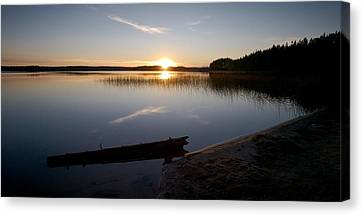 Canvas Print featuring the photograph Haukkajarvi Evening by Jouko Lehto