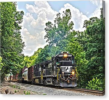 Hauling Freight Canvas Print by Alan Raasch