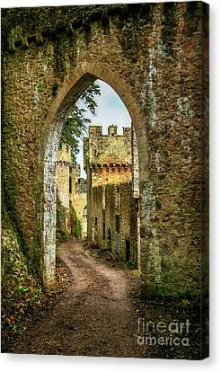 Haunted Castle Canvas Print by Adrian Evans