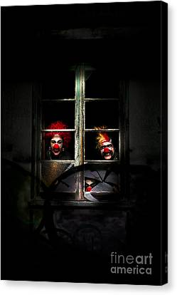 Haunted Clown House Canvas Print