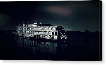 Haunted Dinner Cruise On The Columbia River  Canvas Print by Lisa Kaiser