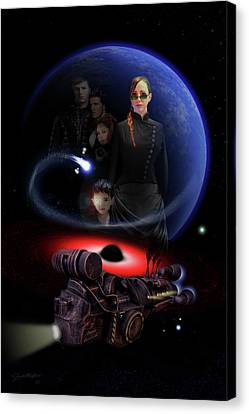 Canvas Print featuring the digital art Haunted Empire by Jeremy Martinson