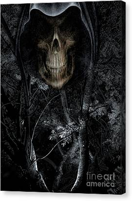 Canvas Print featuring the photograph Haunted Forest by Al Bourassa