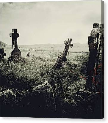 Haunted Graveyard Canvas Print by Brandi Fitzgerald