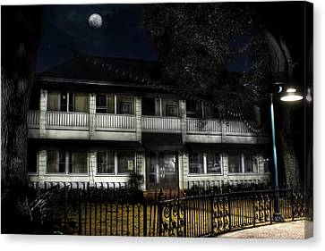Haunted Hotel Canvas Print by Mark Andrew Thomas