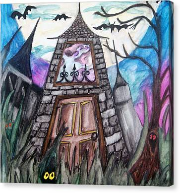 Haunted House Canvas Print by Jenni Walford