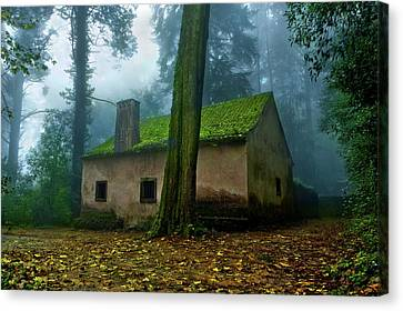 Canvas Print featuring the photograph Haunted House by Jorge Maia