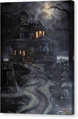 Haunted House Canvas Print by Kayla Ascencio