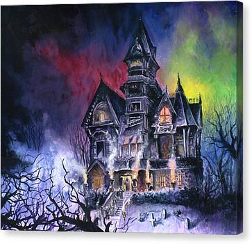 Haunted House Canvas Print by Ken Meyer jr
