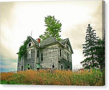 Haunted House Canvas Print by Todd Klassy