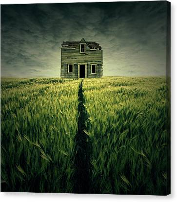 Haunted House Canvas Print by Zoltan Toth