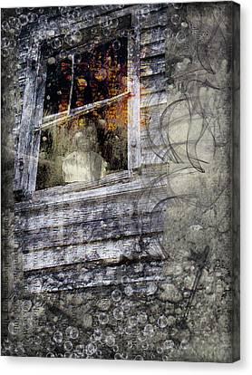 Haunted Impressions Canvas Print by Nadine Berg