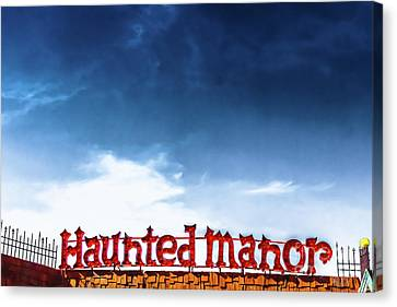 Haunted House Canvas Print - Haunted Manor  by Colleen Kammerer