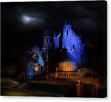 Haunted Mansion At Walt Disney World Canvas Print by Mark Andrew Thomas