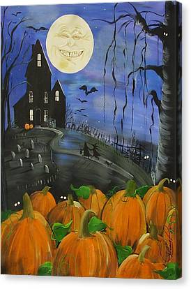 Haunted Night Canvas Print by Sylvia Pimental