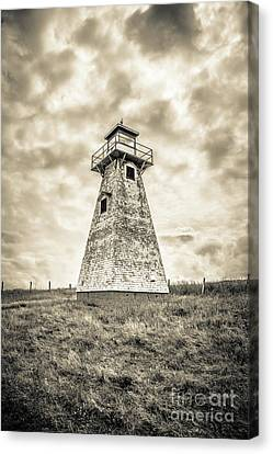 Haunted Old Lighthouse Infrared Canvas Print by Edward Fielding