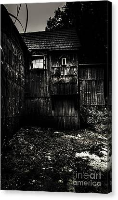 Cabin Wall Canvas Print - Haunted Outback Cabin In Dark Night Woods by Jorgo Photography - Wall Art Gallery
