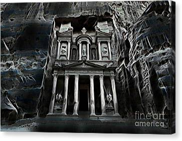Petra Canvas Print - Haunted Petra by Pd