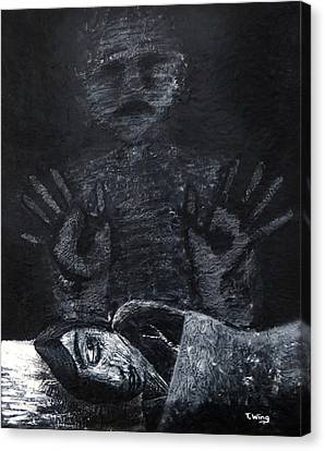 Canvas Print featuring the painting Haunted by Teresa Wing