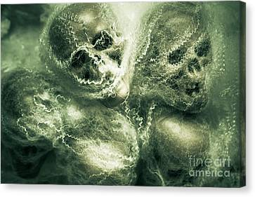 Haunted Undead Skeleton Heads Canvas Print
