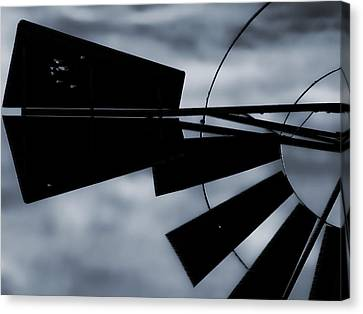 Haunted Windmill Canvas Print by Tony Grider