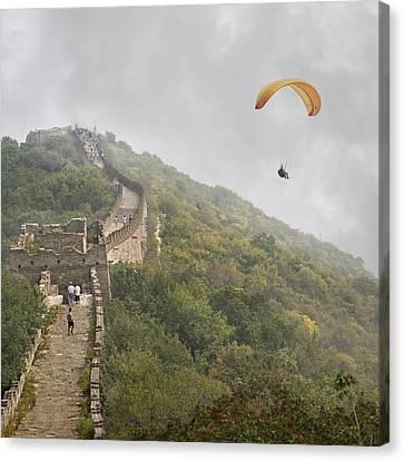 Foggy Day Canvas Print - Haunting Great Wall by Betsy Knapp