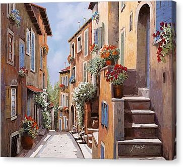haut de Cagnes Canvas Print by Guido Borelli