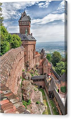 Canvas Print featuring the photograph Haut-koenigsbourg by Alan Toepfer