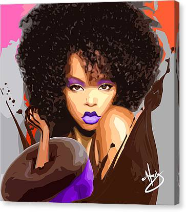 Haute Chocolat Canvas Print by Moxxy Simmons