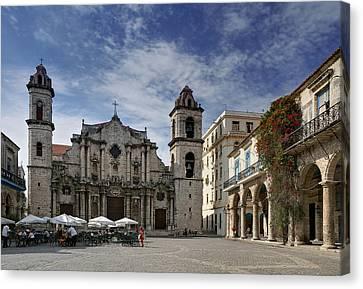 Havana Cathedral. Cuba Canvas Print by Juan Carlos Ferro Duque