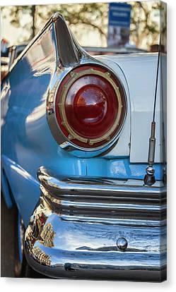 Canvas Print featuring the photograph Havana Cuba Vintage Car Tail Light by Joan Carroll