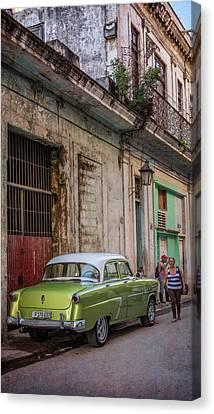 Habana Canvas Print - Havana Street Scene by Joan Carroll