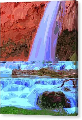 Havasu Falls At Sunset Canvas Print