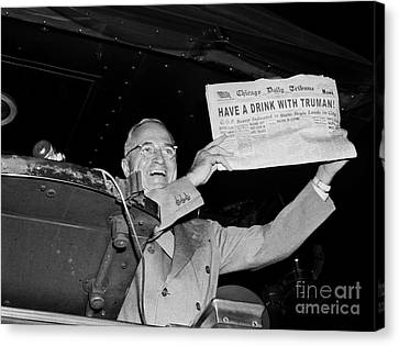 Have A Drink With Truman Canvas Print by Jon Neidert