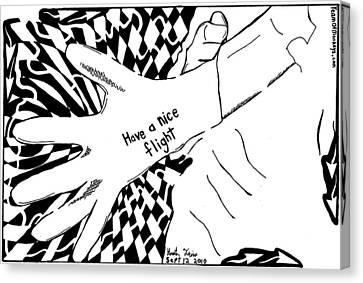 Have A Nice Flight....maze Cartoon By Yonatan Frimer Canvas Print by Yonatan Frimer Maze Artist
