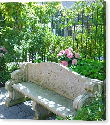 Have A Seat In My Secret Garden. #patio Canvas Print by Shari Warren