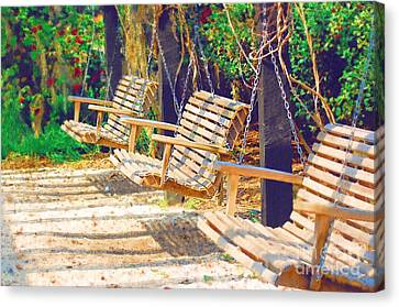 Canvas Print featuring the photograph Have A Seat Relax by Donna Bentley