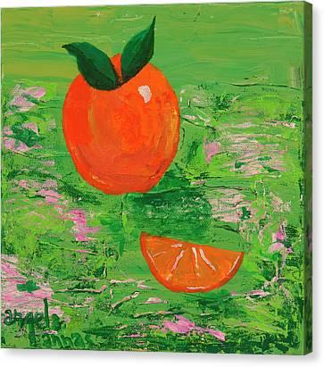Have A Slice Canvas Print by Angela Annas