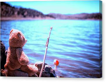 Have You Ever Seen A Bear Fishing Canvas Print