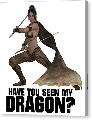 Have You Seen My Dragon? Canvas Print by Esoterica Art Agency