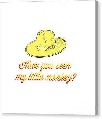 Shirt Canvas Print - Have You Seen My Little Monkey Tee by Edward Fielding