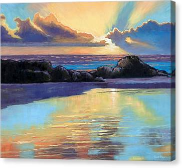 Havik Beach Sunset Canvas Print by Janet King