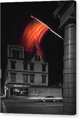 Waving Flag In Easton Canvas Print