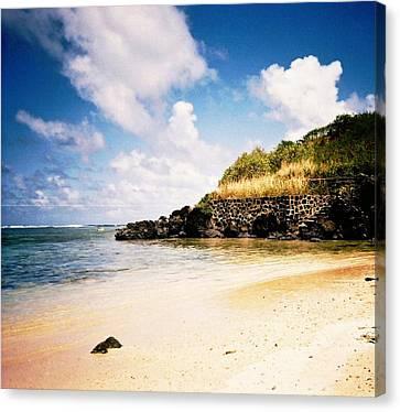 Hawaii Beach View Canvas Print by Judyann Matthews